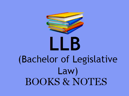 LLB Books and Notes Study Materials for All Semesters in PDF Format  BOOK PDF 2020 | Download bookpdf study materials LLB All semesters 1st, 2nd, 3rd and 4th